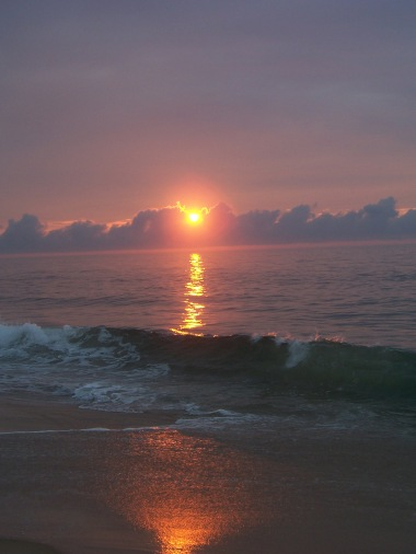 Sunrise over Ocean City, Maryland